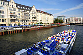 Tourist boot on River Spree, Berlin, Germany