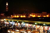 Jemaa El Fna city center, Marrakech, Morocco