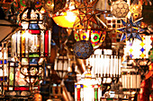 Moroccan lamps, Marrakech, Morocco
