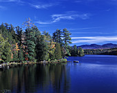 Scenic upper Saranac Lake, Adirondack Park, New York, USA