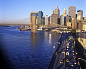 Brooklyn bridge & fdr drive, Downtown, Manhattan, New York, USA