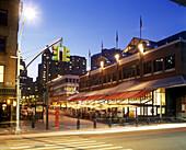 Restaurants, South Street seaport, Downtown, Manhattan, New York, USA