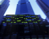 Stock market ticker, Broadway, Midtown, Manhattan, New York, USA