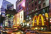 Street scene, Taxi cabs, Times square, Midtown, Manhattan, New York, USA