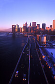 Fdr drive, Downtown skyline, Manhattan, New York, USA