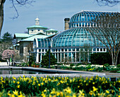 Visitor Center & conservatory, Brooklyn botanical garden, New York, USA
