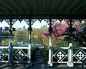 Spring, Cast iron gazebo, Central Park west, Manhattan, New York, USA