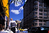 Outdoor tables, Cafe, Madison Avenue, Midtown, Manhattan, New York, USA