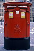Red post box, London, England, UK