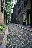 Acorn street, Beacon hill, Boston, Massachusetts, USA.
