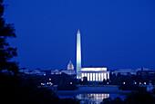 Monuments & capitol building, Washington D.C., USA.