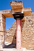 Column at the Palace of Knossos. Crete. Greece