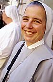 Nun. Vatican City, Rome. Italy