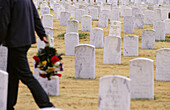 World War II and Korean War cemetery. Memphis. Tennessee, USA