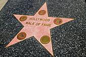 Walk of Fame Star. Hollywood. Los Angeles. California. USA
