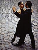 Tango dancers. San Telmo district. Buenos Aires. Argentina