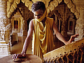 Jain Temple in Jaisalmer. Rajasthan, India.