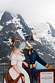 Paperdoubles of Empress Elisabeth and Emperor Franz Joseph, Grossglockner High Alpine Road, Austria