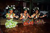 Traditional dance show on board MV Reef Escape, Fiji, South Sea