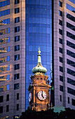 The clock tower of the Lands Department Building in der city, Sydney, New South Wales, Australia