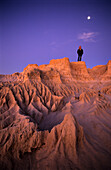 The eroded remnants of the Wall of China, an ancient sand dune, Mungo National Park, New South Wales, Australia