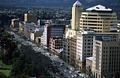The Central Business District with North Terrace, Adelaide, South Australia, Australia