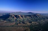 Aerial photo of Wilpena Pound, Flinders Ranges, South Australia, Australia