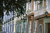 Old San Juan façades. Puerto Rico.
