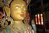 Statue of the Maitreya (future Buddha). Thikse Monastery, Ladakh, India