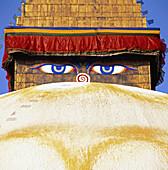 The all sighted eye Buddhas, Kathmandu, Nepal