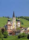 Pilgrimage place Mariazell, in the Styria country, Austria