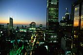 Central Business District after sunset, Melbourne, Victoria, Australia