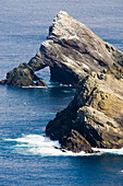 The wild rocky coast of Hermaness, Nature Protection Area, island of Unst, Shetland islands, Scotland, Great Britain