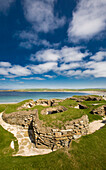 Stone age, Neolithic, settlement Skara Brae, UNESCO World Heritage, West Mainland, Orkney Islands, Scotland, Great Britain