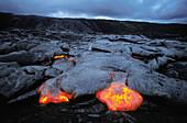 Lava. Kilauea volcano. Hawaii Volcanoes National Park. Big Island. Hawai