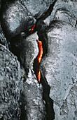 Lava. Volcano Kilauea. Hawaii Volcanoes National Park. Big Island. Hawai