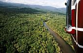 Rainforest at Kuna Yala. View from a helicopter. San Blas region. Caribbean. Panama