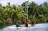 Canoe. Kuna Yala. San Blas region. Caribbean sea. Panama