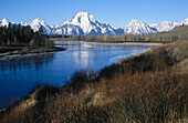 Grand Teton, Rocky Mountains, Yellowstone National Park. USA