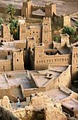 Adobe fortress. Atlas mountains, Morocco
