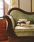 Afternoon, At home, Book, Books, Color, Colour, Concept, Concepts, Couch, Couches, Culture, Daytime, Design, Detail, Details, Education, Furniture, Home, Indoor, Indoors, Inside, Interior, Living room, Living rooms, Morning, Nobody, Object, Objects, Pile