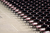 Aisle, Alone, Arrangement, Audience, Auditorium, Beginning, Chair, Chairs, Color, Colour, Concept, Concepts, Concert, Contemporary, Corridor, Corridors, Crowd, Crowded, Crowds, Diagonal, Done, Empty, Finished, Folding chairs, Horizontal, Isolation, Line,