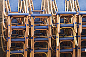 Arrangement, Bar, Bars, Cafe, Cafe terrace, Cafe terraces, Cafes, Chair, Chairs, Coffee shop, Coffee shops, Color, Colour, Concept, Concepts, Daytime, Detail, Details, Empty, Exterior, Heap, Heaped, Heaps, Horizontal, Leisure, Many, Order, Outdoor, Outdo