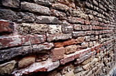 Aged, Background, Backgrounds, Brick, Bricks, Brown, Careless, Carelessness, Close up, Close-up, Closeup, Color, Colour, Concept, Concepts, Construction, Daytime, Detail, Details, Exterior, Hard, Hardness, Horizontal, Old, Outdoor, Outdoors, Outside, Pat