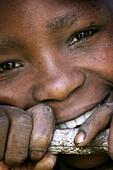 African girl smiling.Tanzania