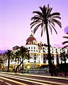 Hotel Negresco at English promenade. Nice. France