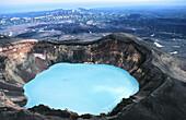 Crater Troitsky in Maly Semiachik volcano. Kamchatka. Russia