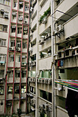 Urban Hong Kong flats. Settlement. Kowloon Peninsula. Hong Kong.