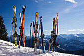 skiing in the bavarian Alps, Brauneck, Upper Bavaria, Germany