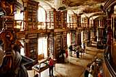 View inside the hall of Abbey Library (UNESCO global cultural heritage sites), St. Gallen, Canton of St. Gallen, Switzerland
